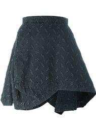 асимметричная юбка  с потертой отделкой Vivienne Westwood Anglomania
