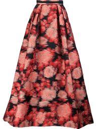 длинная юбка с цветочным жаккардовым узором Carolina Herrera