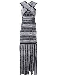 платье с перекрещенными лямками Christian Siriano