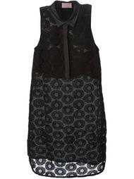 платье-рубашка с цветочной вышивкой  Giamba