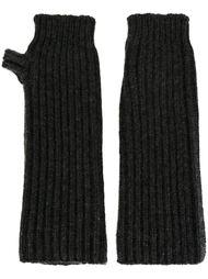 вязаные перчатки без пальцев Marni