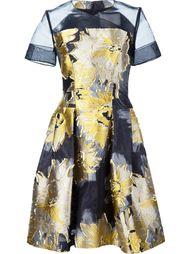 жаккардовое мини-платье с цветочным принтом Carolina Herrera