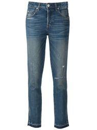 укороченные джинсы с потёртостями Amo