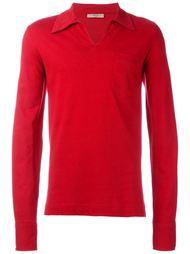 рубашка-поло с нагрудным карманом Romeo Gigli Vintage