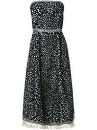платье без бретелей с леопардовым принтом Sea