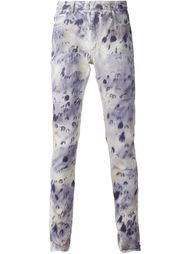 джинсы с пятнистым узором Maison Margiela