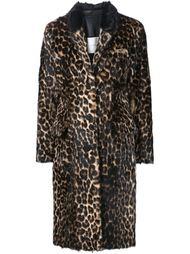 пальто с леопардовым принтом   Adam Lippes