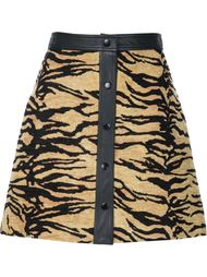 жаккардовая юбка А-образного кроя   Adam Lippes