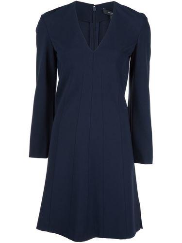 классическое платье с V-образным вырезом Derek Lam