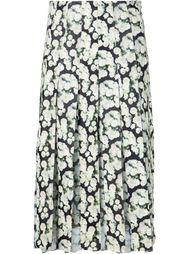 плиссированная юбка с цветочным принтом   Adam Lippes