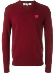 свитер с V-образным вырезом 'Red Play' Comme Des Garçons Play