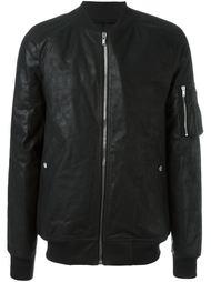 кожаная куртка-бомбер Rick Owens