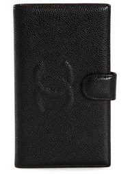 складной кошелек с тиснением логотипа Chanel Vintage