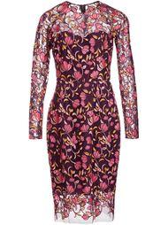 платье с вышивкой  Lela Rose