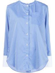 полосатая рубашка без воротника Tome