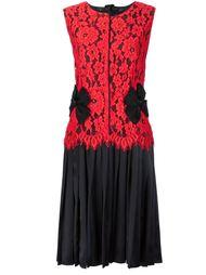 плиссированное платье с кружевным верхом Marc Jacobs