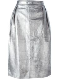 юбка-карандаш с металлическим отблеском Emanuel Ungaro Vintage