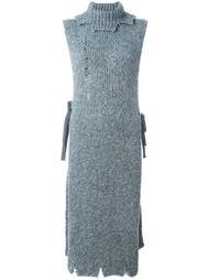 длинный свитер без рукавов  Erika Cavallini