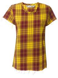 футболка в клетку Comme Des Garçons Vintage