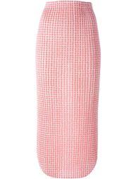 юбка в горох с гофрированным дизайном  Issey Miyake Vintage
