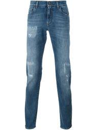 джинсы кроя скинни с потертой отделкой Dolce & Gabbana