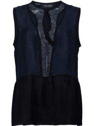 топ 'Lace Placket'  Yigal Azrouel