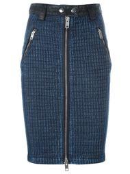 джинсовая юбка на молнии спереди Diesel