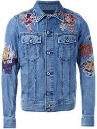 джинсовая куртка с вышивкой Diesel