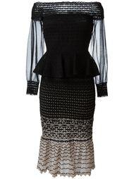 трикотажное платье с открытыми плечами Alexander McQueen
