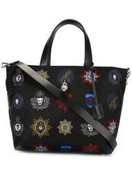 сумка-тоут с принтом стилизованных орденов Alexander McQueen