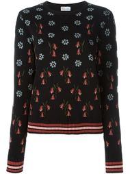 джемпер вязки интарсия с цветочным узором Red Valentino