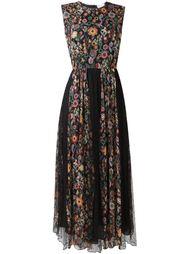 плиссированное платье с цветочным узором Red Valentino