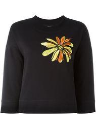 толстовка с цветочной вышивкой  Boutique Moschino