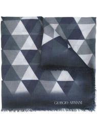 шарф с геометрическим узором Giorgio Armani