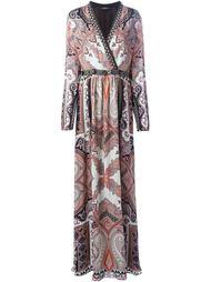 длинное платье с принтом пейсли  Etro