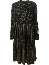 платье в клетку Lanvin