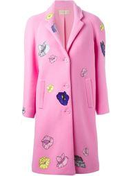 пальто с нашивками  Christopher Kane
