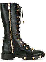 ботинки в стиле милитари  Moschino