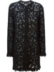 кружевное пальто с цветочным рисунком Ermanno Scervino