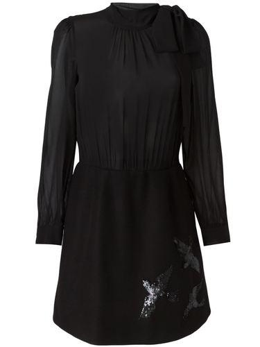 платье с вышивкой птиц из пайеток Red Valentino