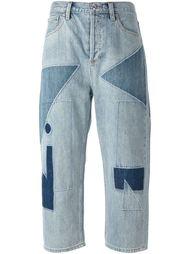укороченные джинсы в стиле пэчворк  Marc By Marc Jacobs
