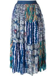лоскутная юбка с принтом  Tsumori Chisato