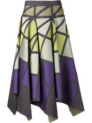 пышная юбка с геометрическим принтом Issey Miyake