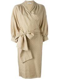 платье в горох с поясом Christian Dior Vintage