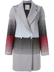 пальто с вышивкой в полоску Marco De Vincenzo