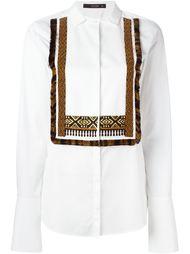 рубашка с декорированным нагрудником Etro