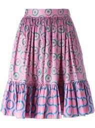 юбка с принтом Yves Saint Laurent Vintage