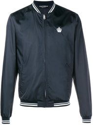 куртка-бомбер с вышивкой короны Dolce & Gabbana
