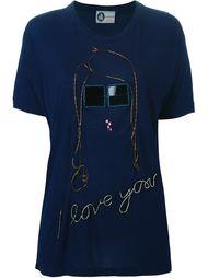 футболка с вышивкой Lanvin