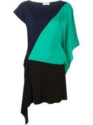 платье асимметричного кроя в стиле колор-блок  Vionnet